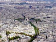 Champs-Elysées visto da Tour Eiffel