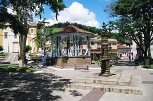 Coreto na praça principal, Bananal, SP