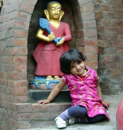Criança nepalesa, Swayambhunath (Templo dos Macacos)
