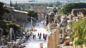 Ruínas romanas em Éfeso, Turquia