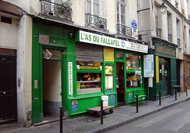 Fallafel no Marais, Paris, França