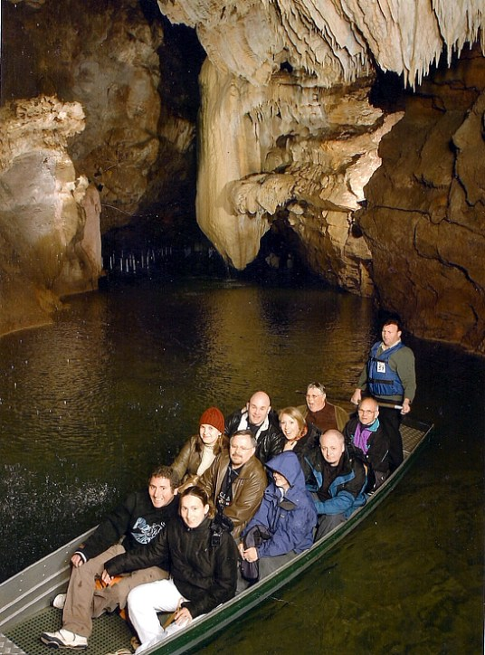 Passeio de brco em um rio subterrâneo, Gouffre du Padirac