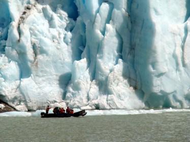 Glaciar Serrano, na Patagônia, Chile