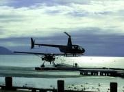 Helicopteros e hidro-aviões efetuam voos turísticos sobre Rotorua