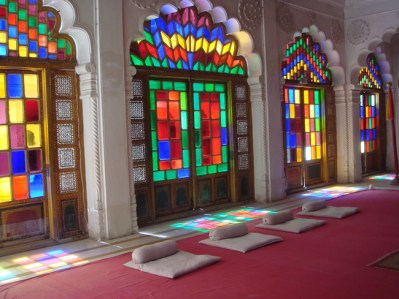 Interior do palácio de Jodhpur, Índia