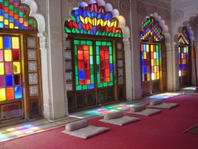 Interior do palácio de Jodhpur, Índia