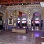 Interior do palácio de Jodhpur, Rajastão, Índia
