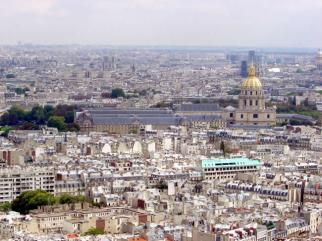 Invalides, foto tirada da Torre Eiffel