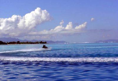 Jet ski em Bora Bora, Tahiti