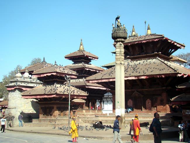 Katmandu, conjunto de templos
