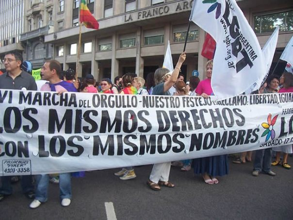 Marcha do orgulho gay, Buenos Aires.