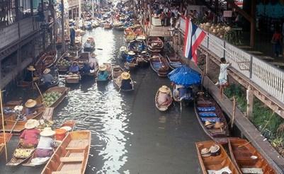 Mercado Flutuante, Bangkok