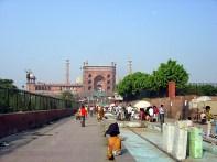 Mesquita Jama Mashid em frente do Red Fort