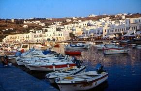 Mikonos, porto, Grécia