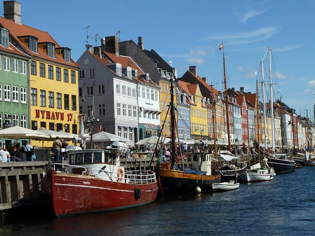 Nyhavn (Porto Novo), Kopenhagen, na Dinamarca