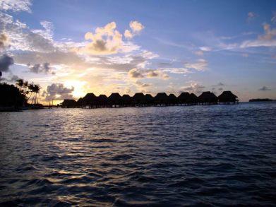 Pôr do sol em Bora Bora, Tahiti