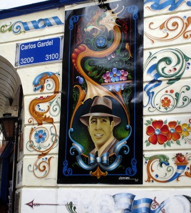 Painel, homenagem a Carlos Gardel, Buenos Aires