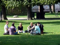 Parque de Copenhagen no verão