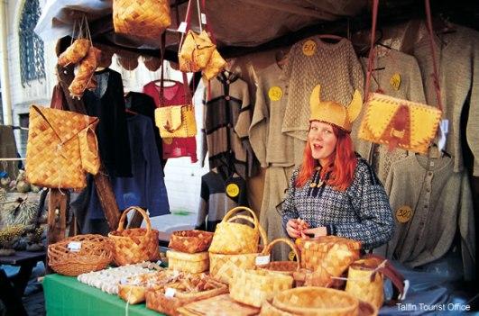 Quiosque de compras em Tallin, Estônia