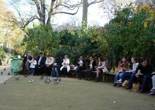 Refeição no jardin de Cluny, Paris