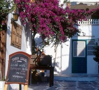 Restaurante em Mikonos, Grécia