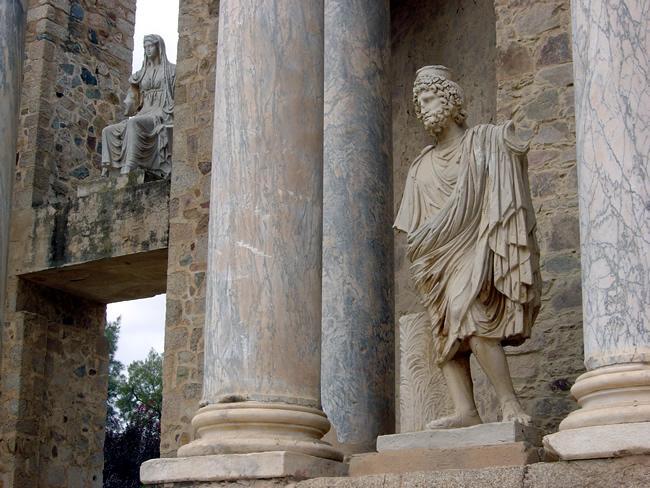 Ruínas Romanas em Mérida, Extremadura