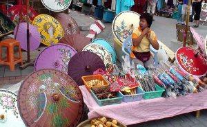 Sombrinhas artesanais, Chiang Mai, Tailândia