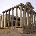 Templo romano em Mérida, Espanha