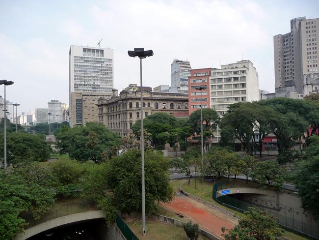Vale do Anhangabaú, centro de São Paulo