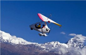 Powerparaglider, Nepal