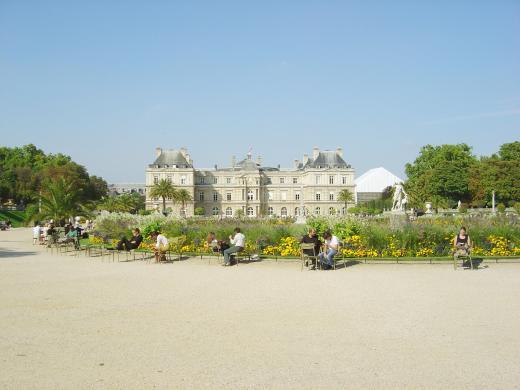Jardin de Luxembrougo, entre o Quartier Latin e St- Germain