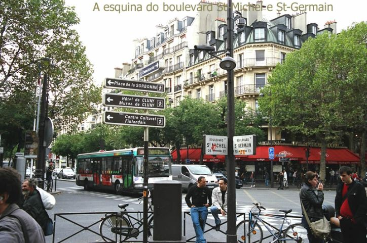 Quartier Latin, esquina do bd St-Germain com bd St-Michel