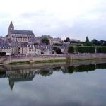 Amboise vista do Loire, França