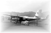 Avião que voa entre Katmandu e Pokhara, no Nepal