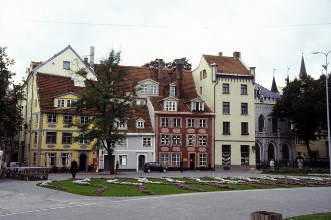 Casas no centro histórico de Riga, Letônia