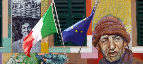 Pintura mural em Cinque Terre, Riviera Italiana