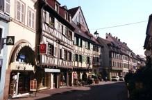Arquitetura típica em Colmar, Alsácia, França