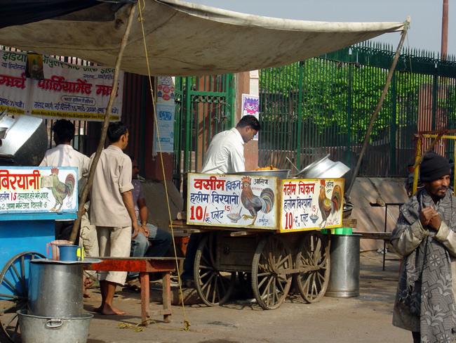 Comida de rua em Delhi