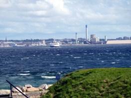 Elsingor, do outro lado do canal fica a Suécia