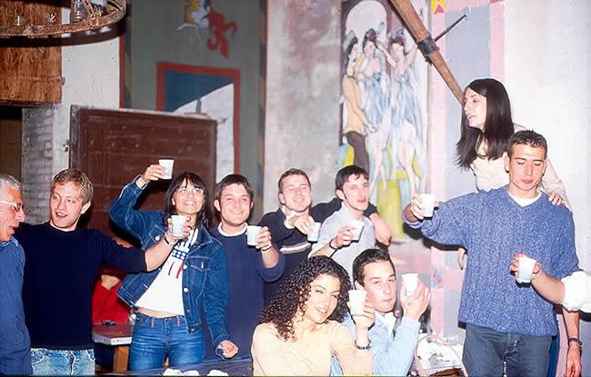 Estudantes italianos em Assis