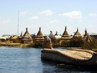 Ilhas flutuantes dos uros, Lago Titicaca, Peru