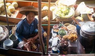 Mercado Flutuante de Bangkok, Tailândia