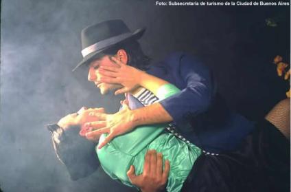 Exibição de tango em Buenos Aires