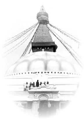 Stupa tibetana em Katmandu, Nepal