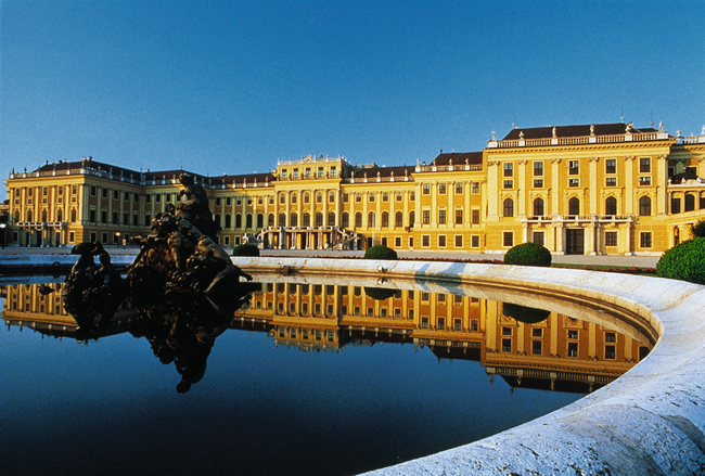 Palácio real em Viena, Áustria
