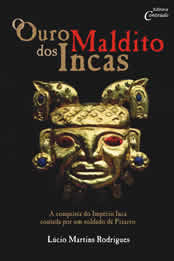 """Capa do livro """"O ouro maldito dos Incas"""""""