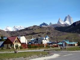 Cidadezinha de El Chaltén, na Patagônia Argentina