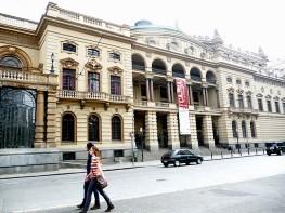 Lateral do Teatro Municipal