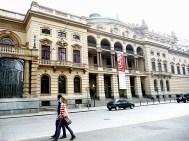 Lateral do Teatro Municipal em São Paulo