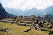 Vista panorâmica do sítio arqueológico de Machu Picchu